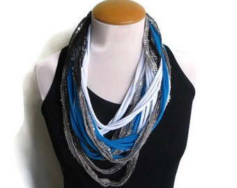 T-shirt Scarf, Tshirt Necklace, Jersey Scarf Purple Scarf Necklace Scarf Women Scarf Infinity Scarf Noodle Scarf Summer Scarf Tshirt Scarf