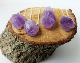 Raw Amethyst Nugget Necklace