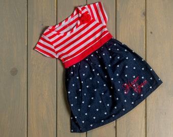 Monogrammed Toddler Dress Summer Dress  Personalized / Monogrammed Dress Girls personalized dress