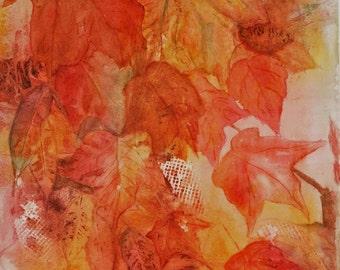 Fall leaf Collage