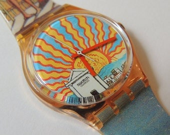 Swatch Watch IL Poeta GP107, vintage watch, classic swatch, sunburst watch, 90's watch