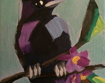 Purple Martin 4x4 inch painting
