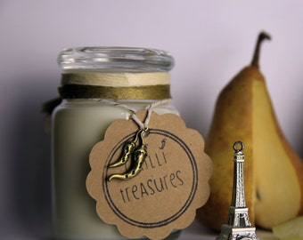 Parisian Pear   100% Soy & Vegan Candle   Hand Poured   Scented   5oz Jar   Australian made   Birthday present   Home Decor   Gift   Rustic