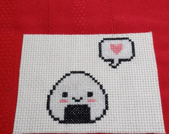 Onigiri Love Cross Stitch
