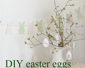 DIY Easter Egg  Making Kit Easter decoration, easter egg decor kit easter tree ornament