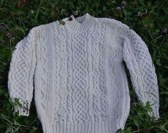 "Aran sweater for man ""MacLaisre"""