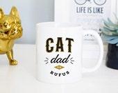 Cat Dad Mug, Cat Lover Mug, Custom Cat Mug, Cat Lover Gift, Cat Dad Gift, Crazy Cat Lady, Cat Mug, Cat Gift, Rose Gold Rebel, Custom Cat