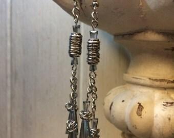 Elegant blue crystal earrings