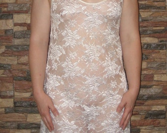 Beautiful Vintage 1970's Lace Lady Cameo Slip  Medium