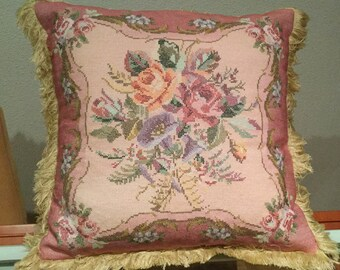 Cushions embroidered cross stitch