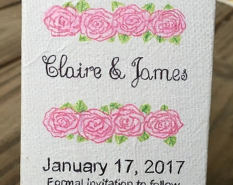 Save the Date, Wedding Invitations, Canvas