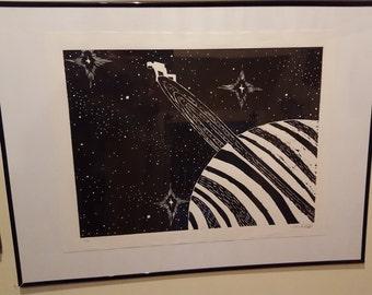 Astronaut on Saturn