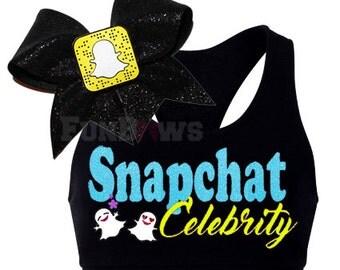 Snapchat Celebrity- Wacki Set - Super cute Sports bra and Custom Bow!