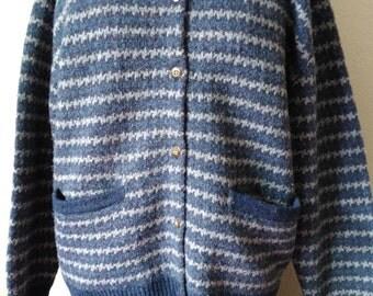 Vintage Wool Sweater, Wool Cardign, Button Up Cardigan, Vintage Cardigan