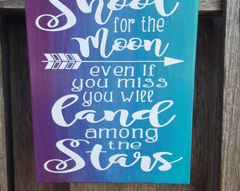 Ombre custom quote sign