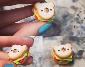 Kawaii Bear Sandwich Charm