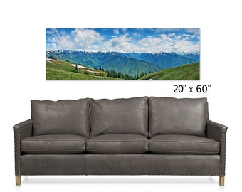Hurricane Ridge, Panoramic Art, Olympic Mountains, Washington, Pacific Northwest, Olympic National Park, Sofa Art, Large Wall Art, Landscape