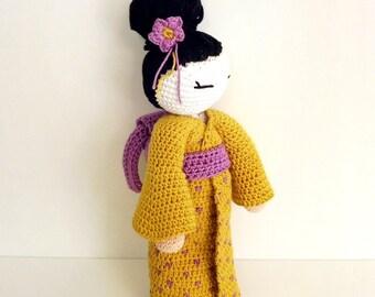 Crochet amigurumi Geisha