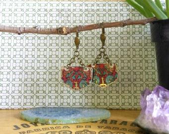 Vintage Tin Indi Tribal Earrings