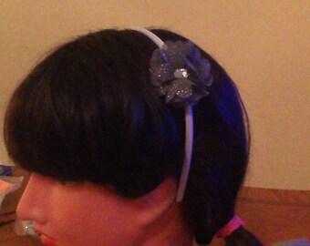 Ladies Sparkle Flower Headband