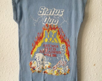 Vintage Kids Rare Status Quo Mesh Top - Age 4 to 6 Years