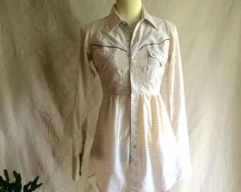 """Repurposed """"MWG""""  Vintage Western Shirt"""