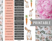 Printable planner stickers Bunny Friends (English)