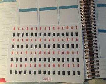 Lipstick stickers