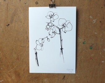 Orchid Print A5