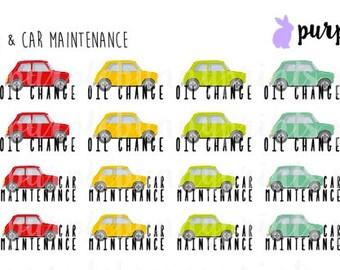 Car Maintenance // Planner Stickers!