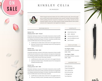 Professional Resume Template - CV Template - for Word (US Letter and A4) 1 & 2 Page - Instant Download