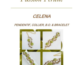 Pattern bracelet, earrings, pendant & necklace CELENA