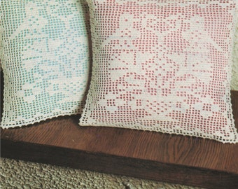 Cushion Cover PDF Crochet Pattern : Cushion Embellishment . Home Crochet Pattern . Instant Digital Download