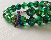 Emerald Green Coil Bracelet