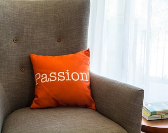 Tangerine Word Pillow