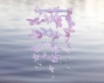 Pink Mobile, Lavender Mobile, Butterfly Mobile, Butterfly Crib Mobile,Butterfly Baby Mobile,Felt Mobile,Girl Baby Shower Gift,Nursery Mobile