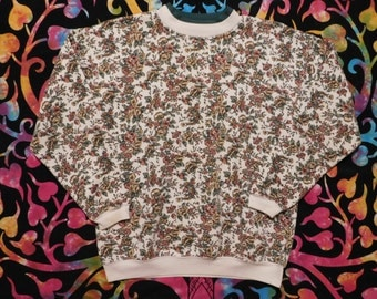 Forest Faerie Autumn Floral Sweater