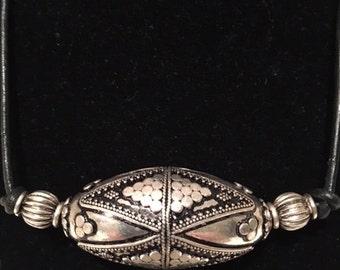 Tibetan Silver & leather