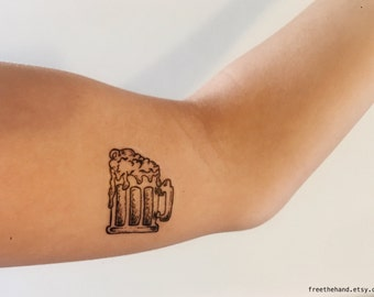 Beer Temporary Tattoo (Set of 2)
