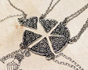 Friends pizza necklace