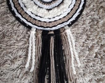 tissage circulaire tissage mural fa on attrape r ves blanc. Black Bedroom Furniture Sets. Home Design Ideas