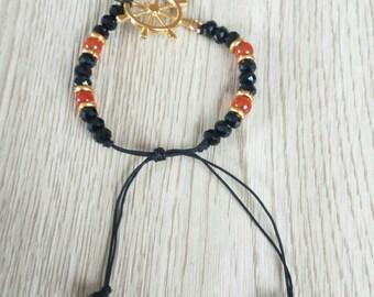Handmade Anchor Bracelet, Nautical Bracelet