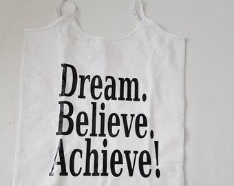 Dream. Believe. Achieve. Girls Vest/Tanlk top