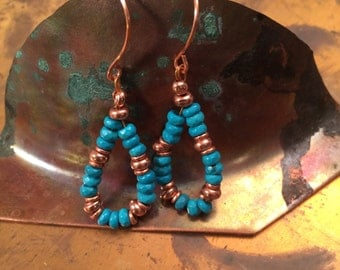Faceted turquoise and copper