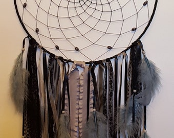 Large Black and Gray Dream Catcher