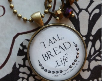 Necklace-I AM the Bread-Handmade