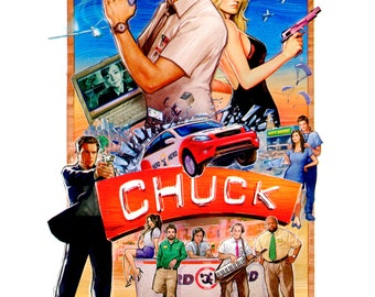 Paper Poster from the TV show Chuck