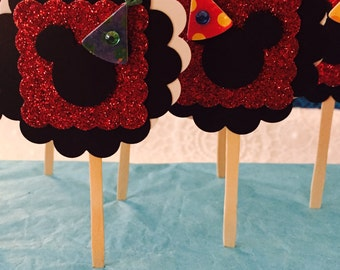 Mickey Mouse ~ Cupcake Toppers ~ set of 12
