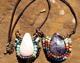 Necklace happy life