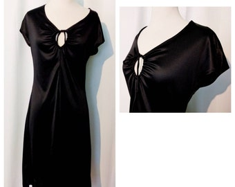 Young Innocent by Arpeja Black Silky Keyhole Dress
